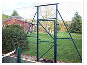 Tennis Court Fencing Coloured Courts